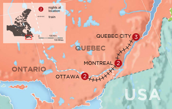 Eastern Canada Winterfest – Map