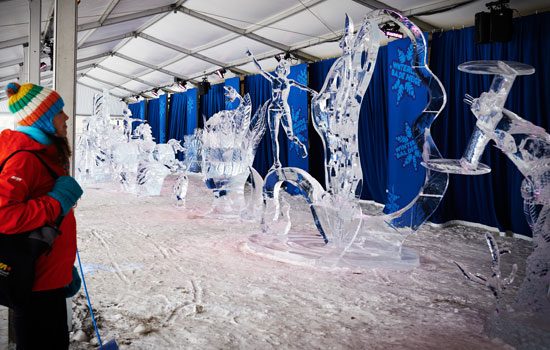 Winterfest ice sculptures