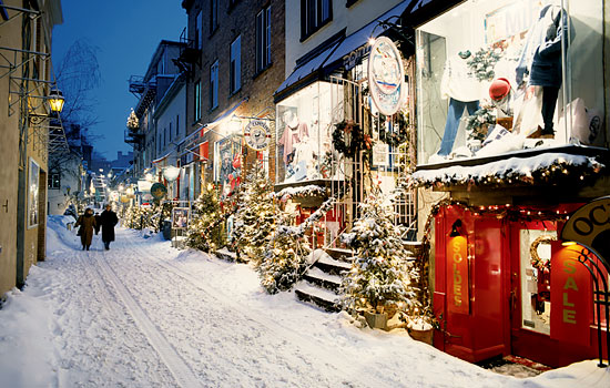 Quebec in the wintertime