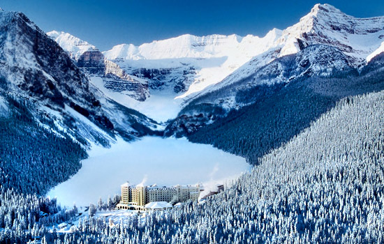 Spend a night at beautiful Lake Louise, Alberta
