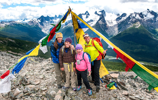 Family Heli-Hiking in the Canadian Rockies