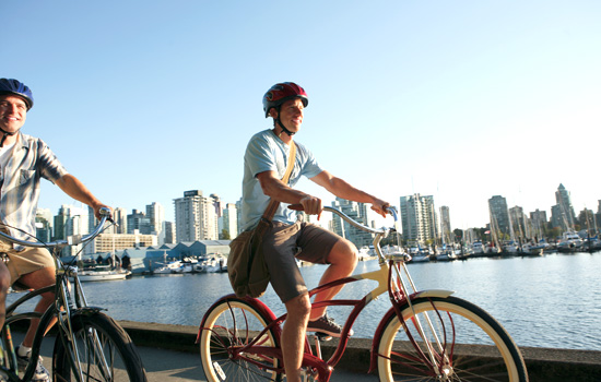 Biking the seawall in Vancouver