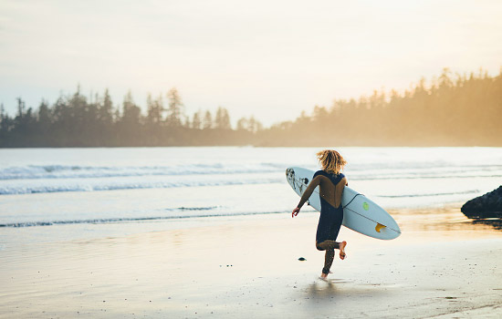 Discover the wild west coast of Vancouver Island and the surf town of Tofino.
