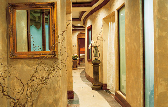 Luxury day spa interior