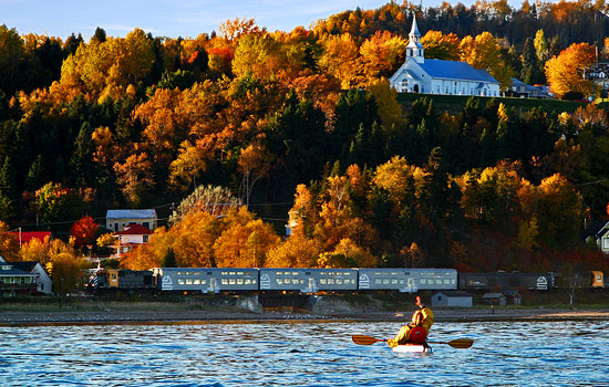 Add on a train voyage into the heart of Charlevoix region along the St. Lawrence river.