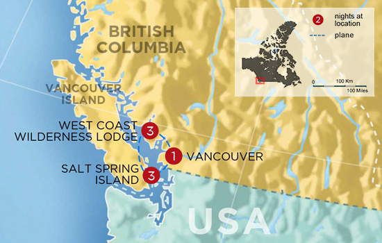 Jewels of the West Coast  – Map