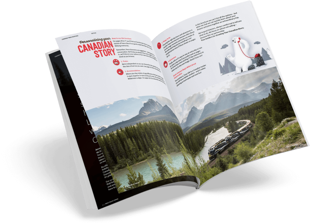 Order your beautiful Fresh Tracks Canada brochure today