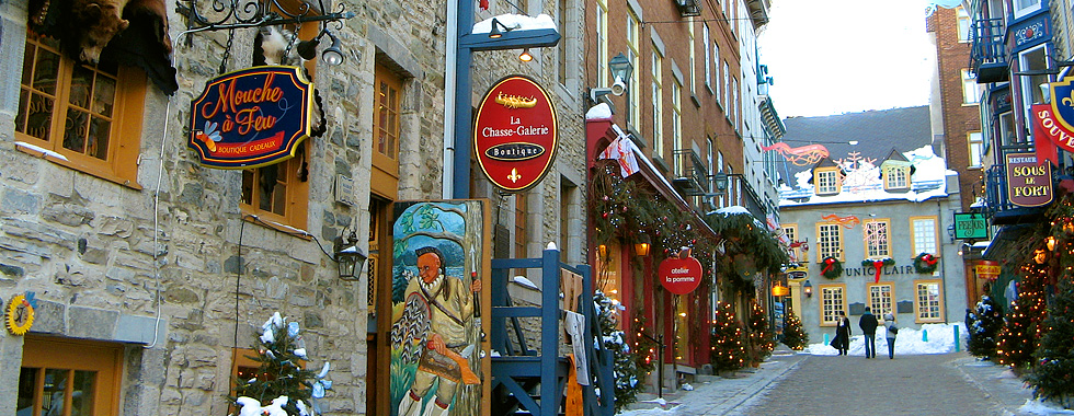 Stroll down cobblestone streets, taking in the European charm of Old Quebec in Quebec City.